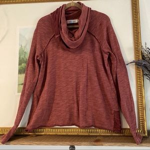 Free People Beach Cowl Neck Shirt Top Blouse